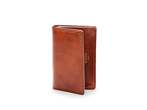 Bosca Mens Dolce Collection - Full Gusset Two-Pocket Card Case