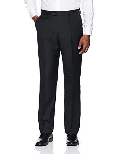 BUTTONED DOWN Men's Tailored Fit Super Italian Wool Suit Dress Pant