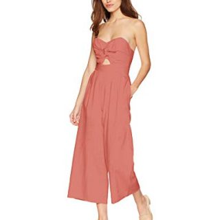 ASTR the label Women's Mara Strapless Wide Leg Jumpsuit
