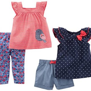 Simple Joys by Carter's Baby Girls Baby 4-Piece Playwear Set