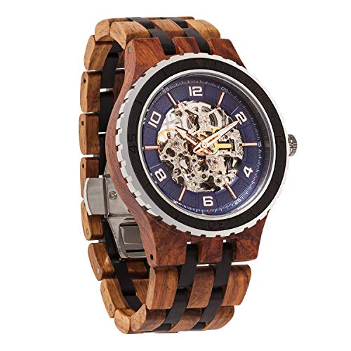 Wilds Wood Watches Premium Eco Self-Winding Wooden Wrist Watch for Men