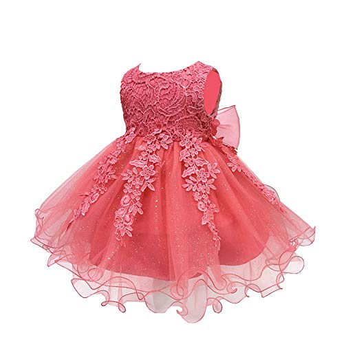 LZH Baby Girls Birthday Christening Dress Baptism Wedding Party Flower Dress