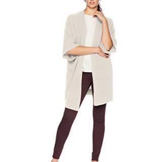 Lark & Ro Women's Oversized Drapey Open Cardigan Cashmere Sweater