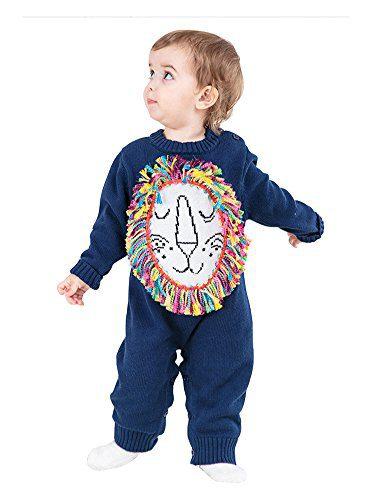 Fairy Baby Baby Boy Knit Sweater Tassel Lion Jumpsuit Romper