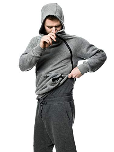 Tuxy The World's Best Onesie (XXL, Two Tone Grey)