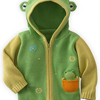 Joobles Organic Baby Cardigan Sweater - Flop the Frog