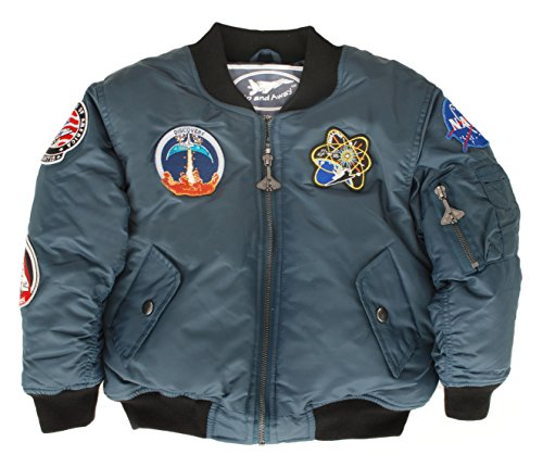 Up and Away Boys' Space Shuttle Jacket 24 Months Blue
