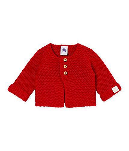 Petit Bateau Unisex Baby Red Cardigan