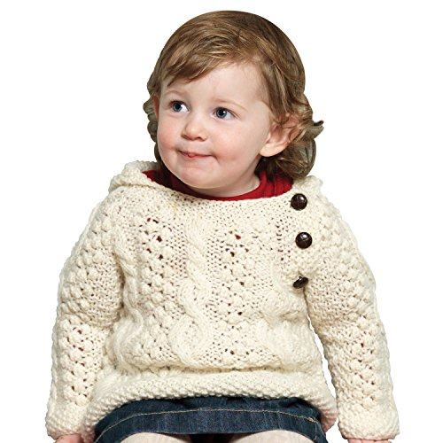 BABY'S HANDKNIT SIDE FASTENING SWEATER BY CARRAIG DONN