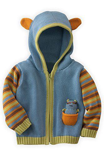 Joobles Organic Baby Cardigan Sweater - Racky the Raccoon