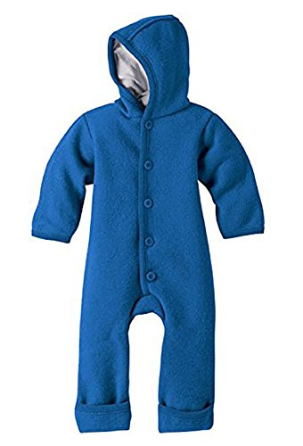 DISANA 100% ORGANIC BOILED WOOL OVERALL ROMPER HOODED NEWBORN