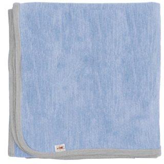 Cocooi Merino Blanket, Sky/Light Grey, For Newborn Babies