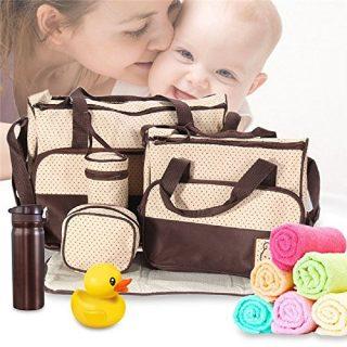 5pcs Fashion Mommy Bag Women Siaper Bag Nappy Bag