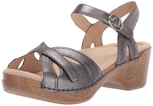 Dansko Women's Season Sandal, Graphite Nappa