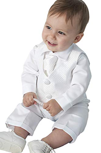 Faithclover Christening Outfit for Boys Newnorn Toddler Formal Suits Set