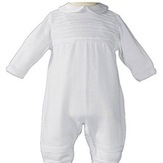 Little Things Mean A Lot Boys Cotton Knit Christening Outfit Christening
