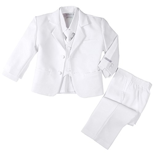 Spring Notion Baby Boys' Formal White Dress Suit Set