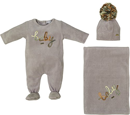 Cream Bebe Newborn Baby Boy Gift Set Grey