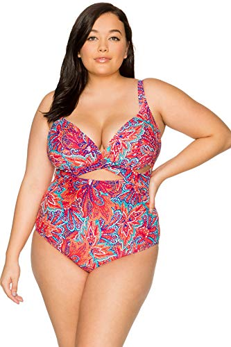 Sunsets Women's Sasha Plus Size Crossover One Piece Swimsuit