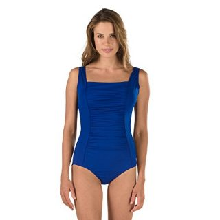 Speedo Women's Endurance+ Shirred Tank Onepiece Swimsuit