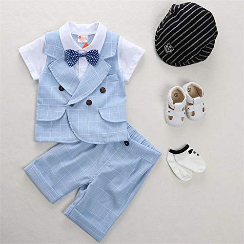Boys Summer Suit Baby Clothes 1-2 Years Old Summer Thin Short Sleeve