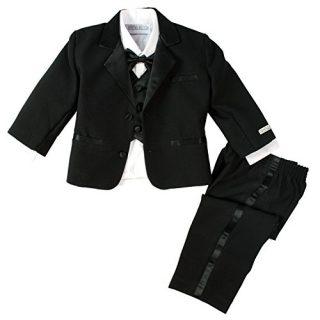 Spring Notion Baby Boys' Black Classic Fit Tuxedo Set