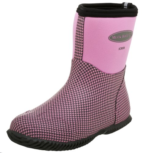 The Original MuckBoots Women's Scrub Boot,Dusty Pink Houndstooth