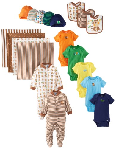 Gerber Baby-Boys Newborn Boy 19 Piece Essentials Gift Set