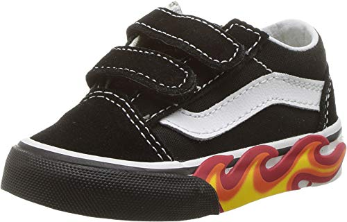 Vans Toddlers Old Skool V (4 M US Toddler, Black/White)