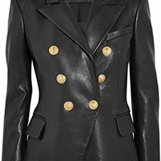 Leather Hubb Leather Jacket Women's Business Black Leather