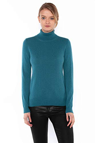 JENNIE LIU Women's 104% Pure Cashmere Long Sleeve