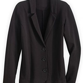 Fair Indigo Fair Trade Organic Knit Blazer (S, Black)