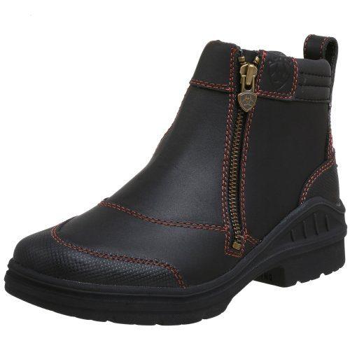 Ariat Women's Barnyard Side Zip Barn Boot, Dark Brown