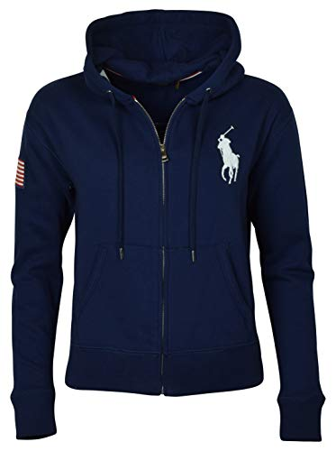 RALPH LAUREN Polo Womens Big Pony Fleece Hooded Sweatshirt