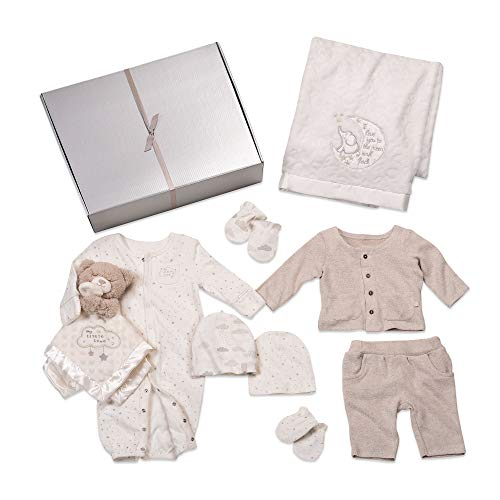 Baby Starters 9-Piece Neutral Layette Set, 6 Months with Pants Set