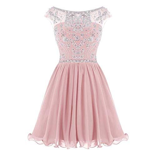 WHZZ Bonnie Beaded Short Homecoming Dresses Chiffon Prom Dresses