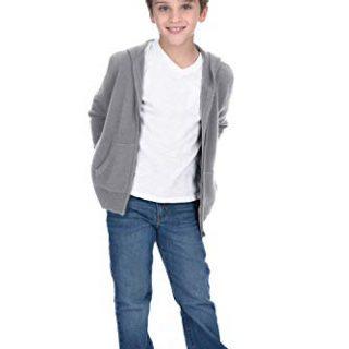 State Cashmere Kids Unisex Wool Cashmere Full-Zip Hoodie Sweater