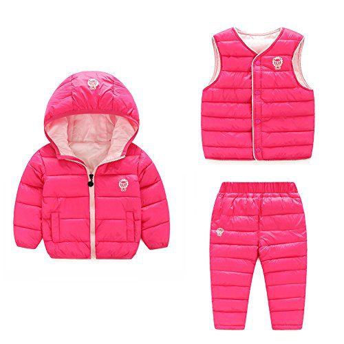 Baby Boy Girl Winter Puffer Snowsuit Down Hooded Jacket