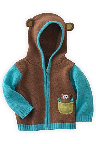 Joobles Organic Baby Cardigan Sweater - Mel the Monkey