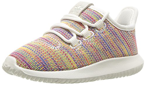 adidas Originals Baby Tubular Shadow Running Shoe, White Blue