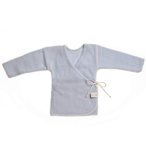 LANACARE Organic Wool Baby Sweater, Light Blue