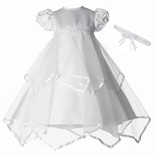Lauren Madison Baby-Girls Newborn Handkerchief Skirt Dress Gown Outfit