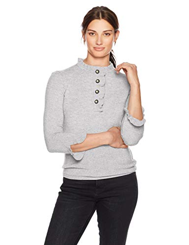 Lark & Ro Women's Sweaters Ruffle Cashmere Sweater