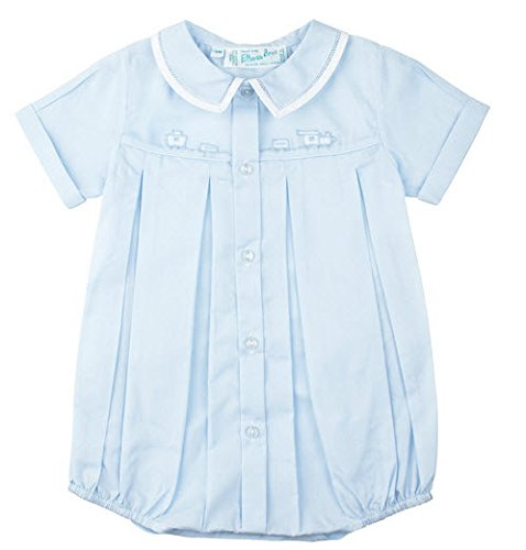 Feltman Brothers Baby Boys Blue Train Bubble Outfit