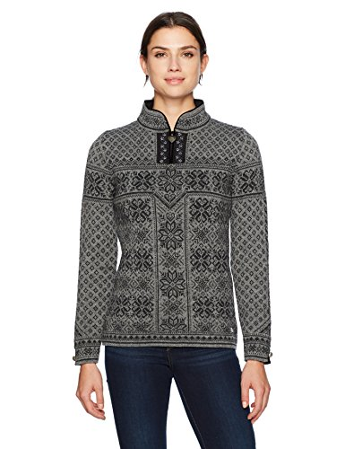 Dale of Norway Women's Peace Feminine Sweater, Smoke/Dark Charcoal