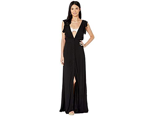 Maaji Women's Turtle-Iffic Long Dress Cover-Up Black Small