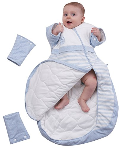 OuYun Baby Organic Sleeping Bag Detachable Sleeve Wearable Blanket