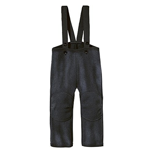 Disana Baby Boys Dungarees/Trousers Organic Boiled Merino Wool Anthracite