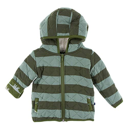 KicKee Pants Print Quilted Jacket with Sherpa-Lined Hood