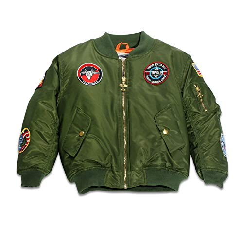 Up and Away Boys' MA-1 Flight Jacket 24 Months Green